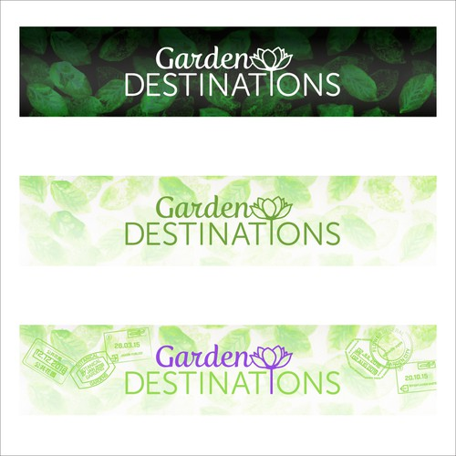 Banner and Masthead for Garden Travel website and magazine