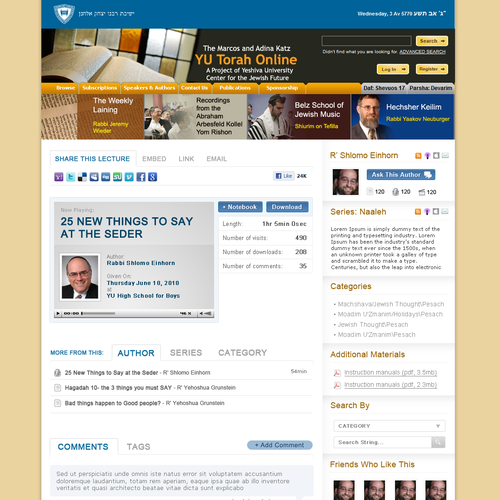Primary content page redesign