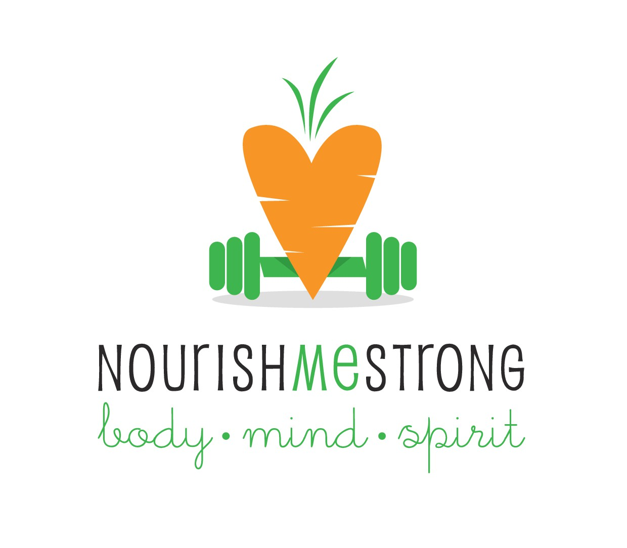"Create an inspiring, energizing & empowering ""Nourish Me Strong - Body Mind Spirit""  logo & website"