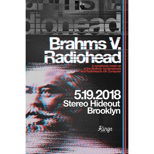 Poster for Brahms V. Radiohead
