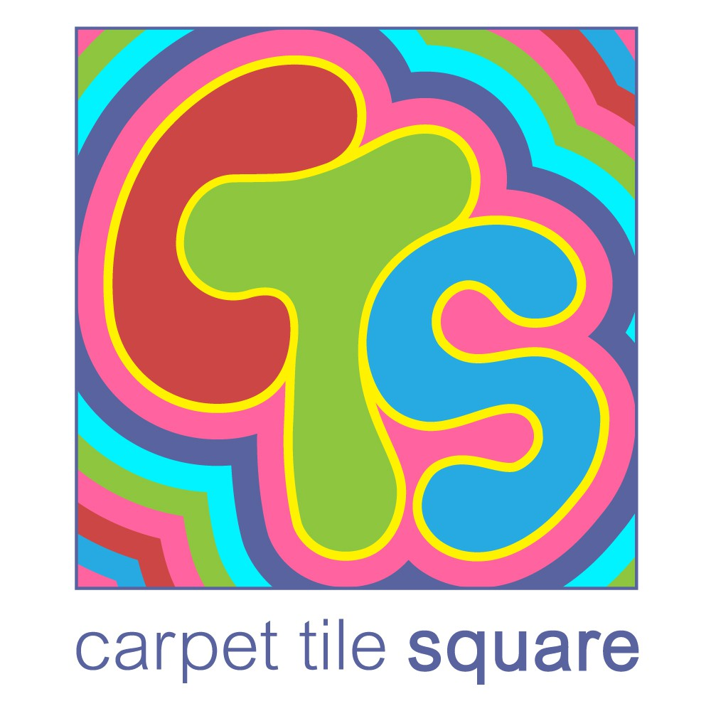 Make it Fun. Less Corporate. Whimsical. We sell CarpetTile at a Square. Like a marketplace.