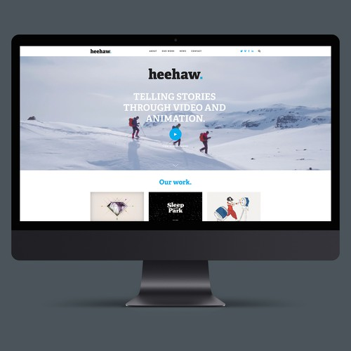 Website for Video and Animation company Heehaw