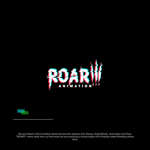 logo concept for roar animation
