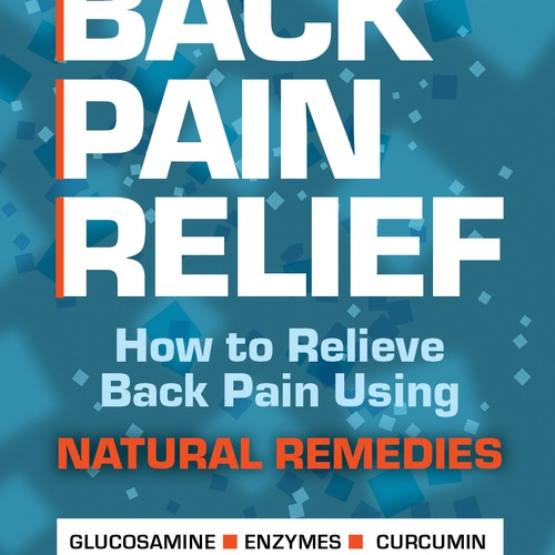 Book cover for Back Pain Relief book - Abstract designs in Turquoise