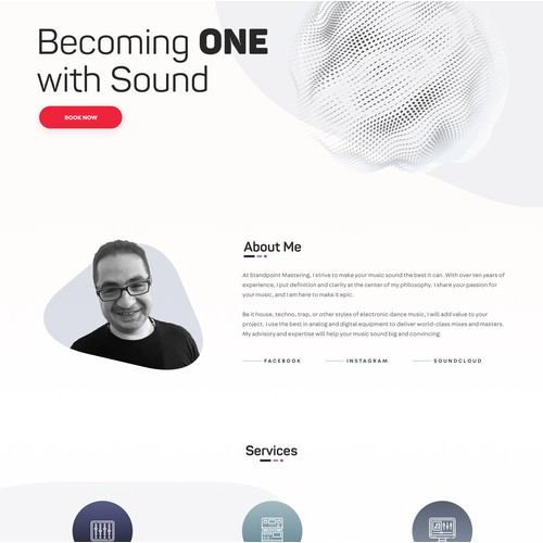 Standpoint Mastering website design