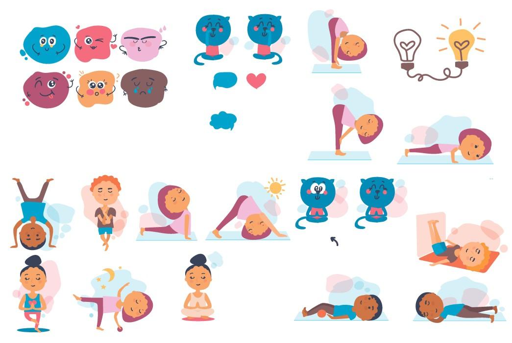 Illustrations for children's yoga booklet needed