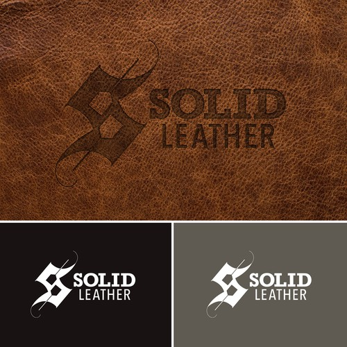 Logo concept for a leatherworker