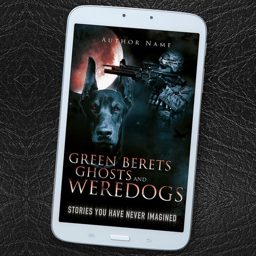 """Book cover design for """"Green Berets, Ghosts and Weredogs"""""""