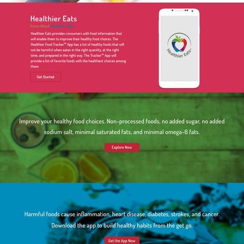 Healthier Eats App Design