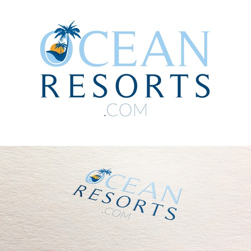 Create a fun but professional logo for a collection of oceanfront resorts