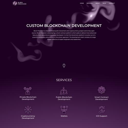 Blockchain company landing