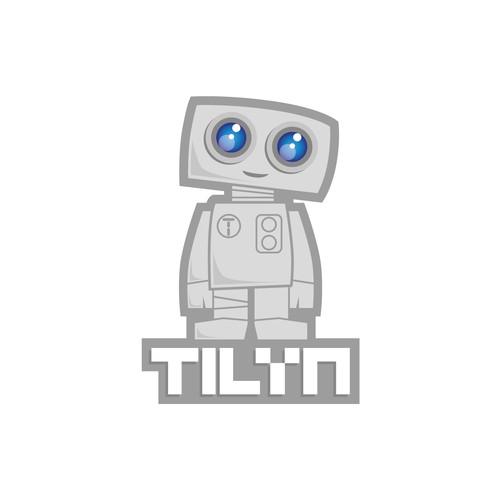 Adorable robot logo