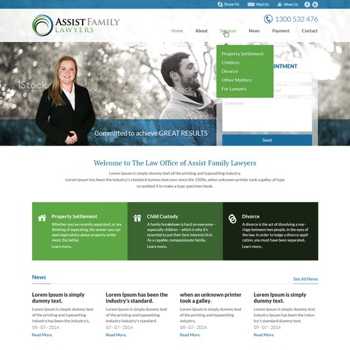 Create a website for Assist Family Lawyers
