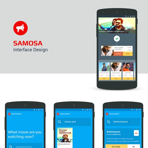 UI design for samosa app