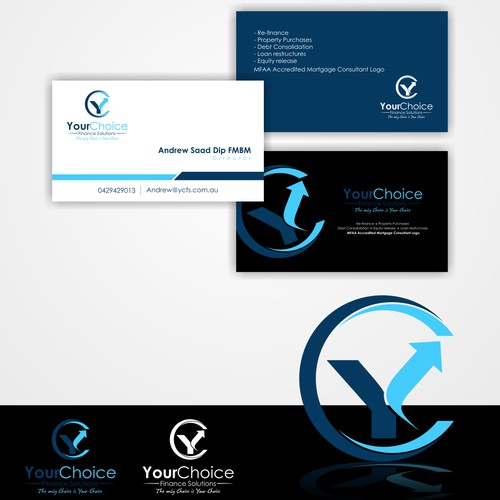 Create a Logo and Business card for a contemparary and sophisticated Finance Broking company.