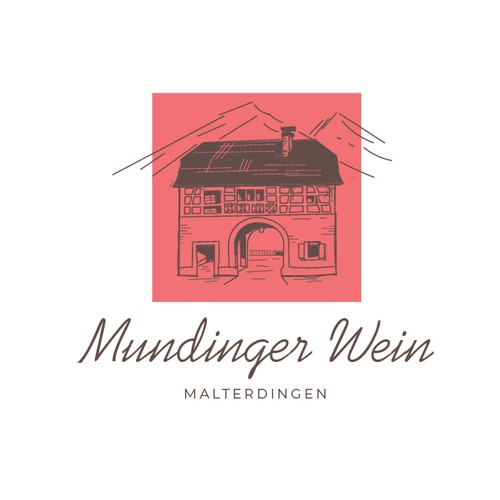 hand drawn logo for a private winery