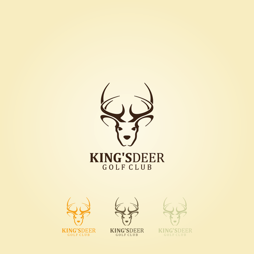 King's Deer Golf Club Logo design