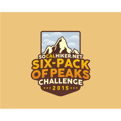 Graphic or logo for Six Pack of Peaks Challenge 2015 by socalhiker.net