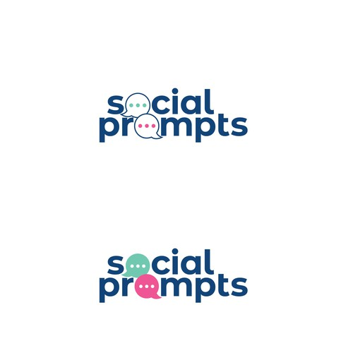 Clean logo design for Social Prompts