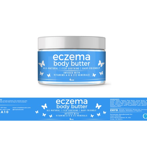 Eczema Body Butter label