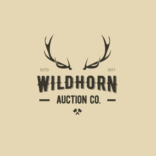 Vintage logo for Wildhorn Auction Company