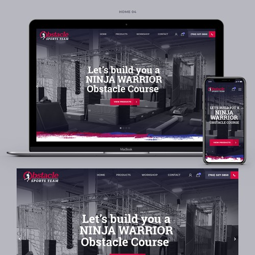 Webdesign for a Ninja Warrior gym manufacturer