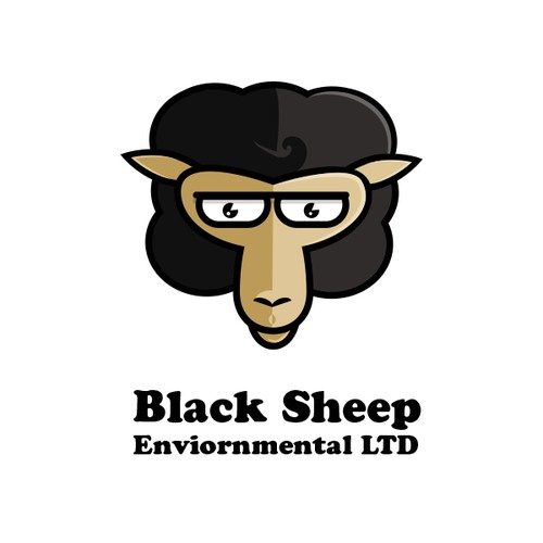 Create a logo and business card for Black Sheep Environmental