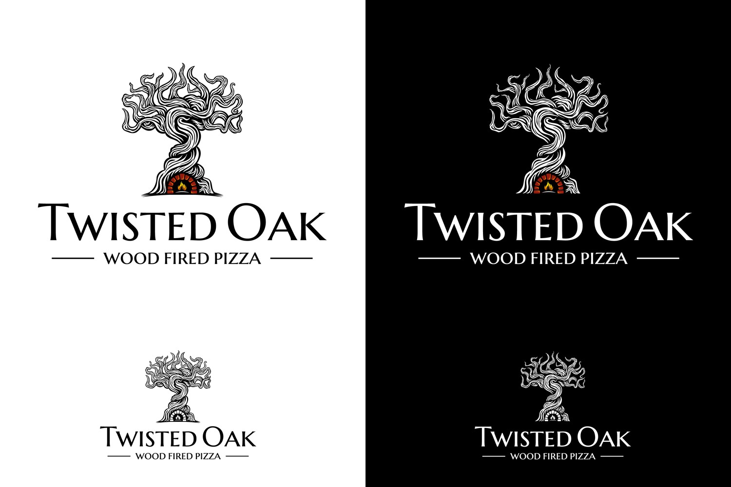 Are you a little twisted? Design a logo for our mobile wood fired pizza oven @ Twisted Oak