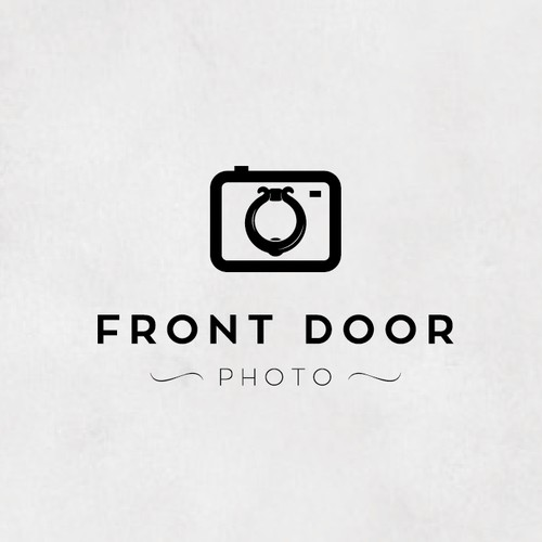 Bold logo for front door photo