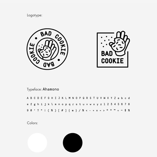 Minimalist logo for a cookie shop
