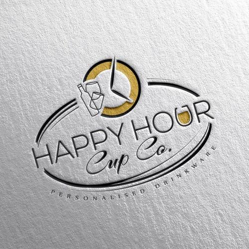 Drinkware company's logo design.