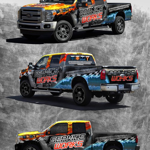 Ford truck wrap design