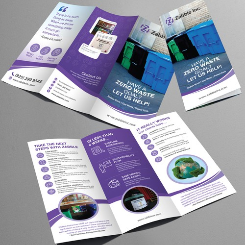 Brochure design for Zabble Inc