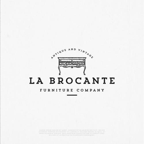 Vintage logo for La Brocante company