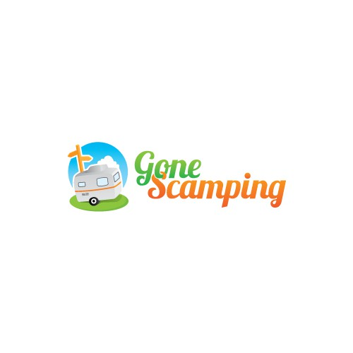 Create the next logo for Gone Scamping