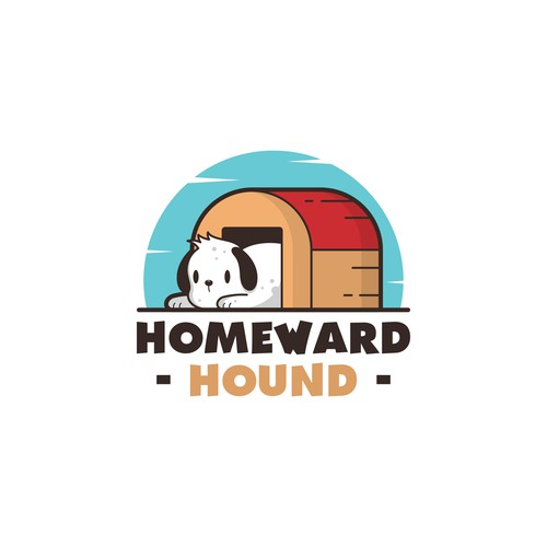 Fun and playful puppy logo