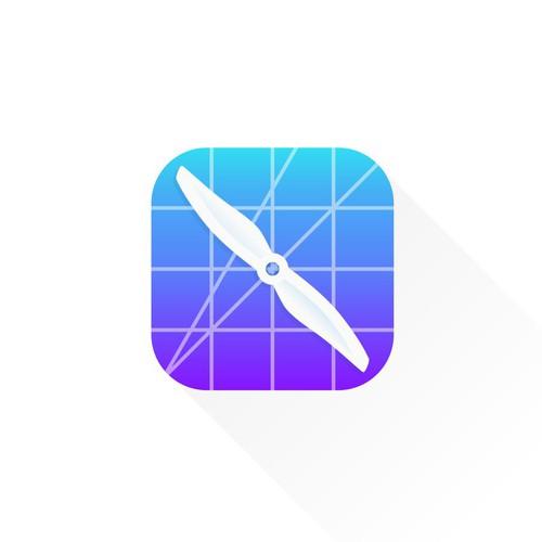 Clean App Icon for Drone Comunity App