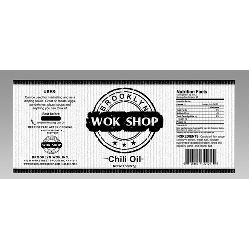 New product label wanted for Brooklyn Wok Shop