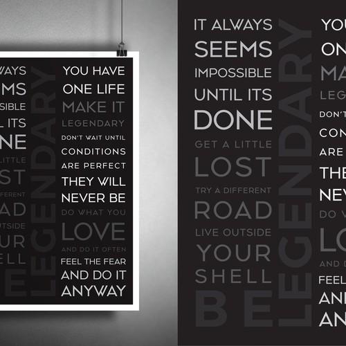 Poster design for Be Legendary