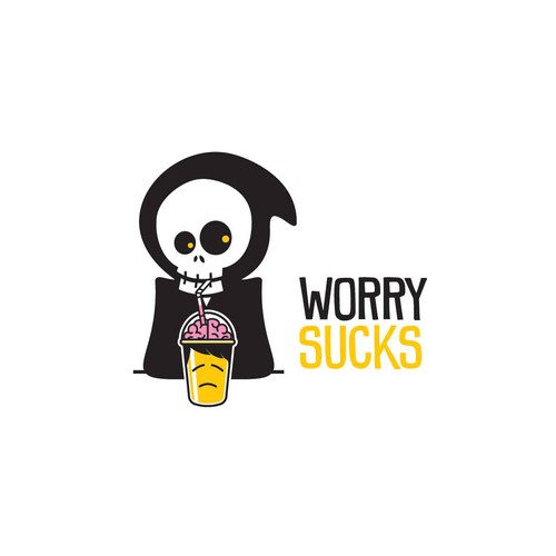 "Create a simple logo to illustrate ""WORRY SUCKS"""