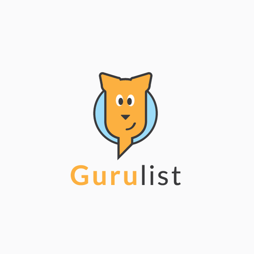 Smart and playful guru logo
