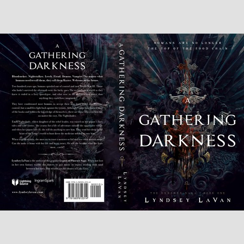 """Book cover """"A Gathering Darkness"""" - Linsey LaVan"""