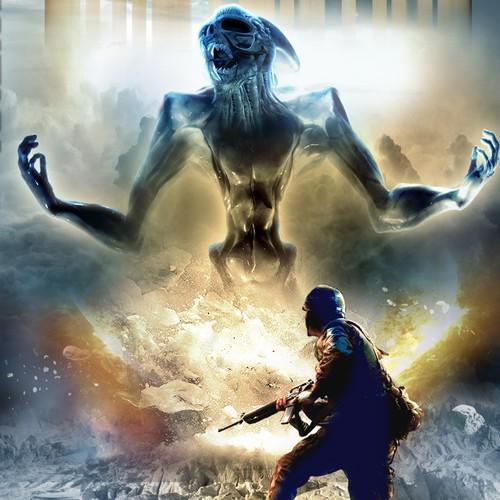 Military sci-fi cover design