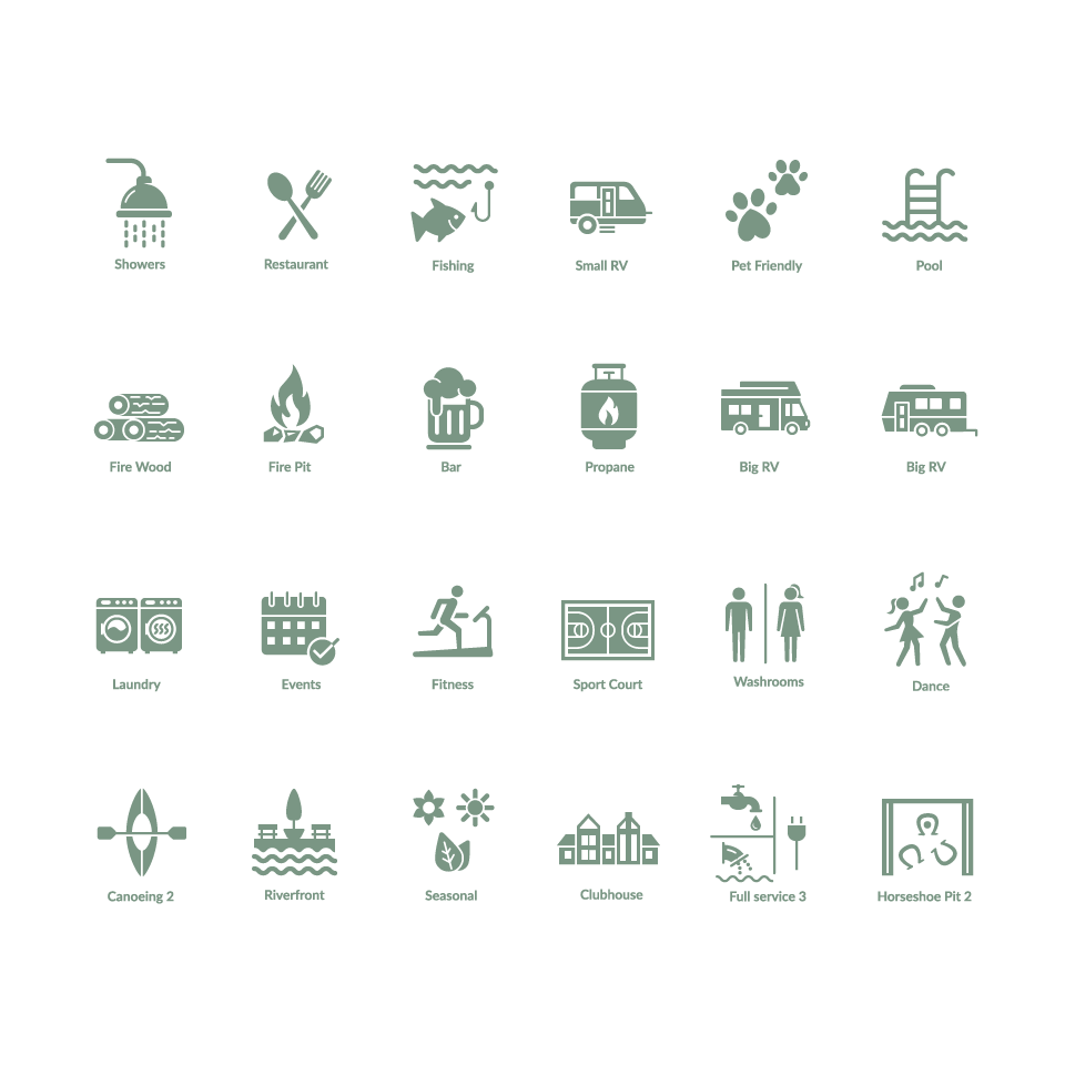 RV Park Icons
