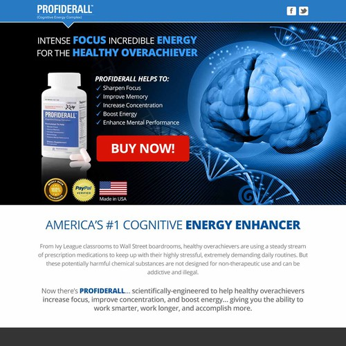 Design A Creative Landing Page for a Leading Health Supplement