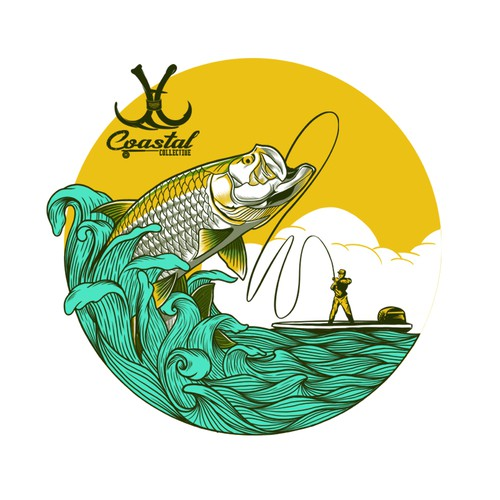 An illustration tshirt design for Coastal Collective.