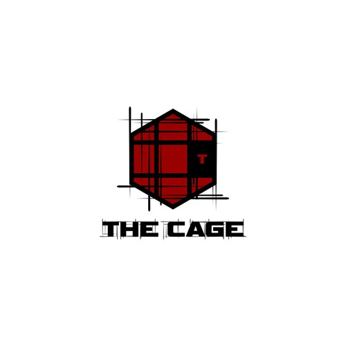 Create an illustration of a challenging fight cage
