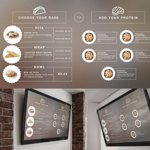 LED-screen menu design