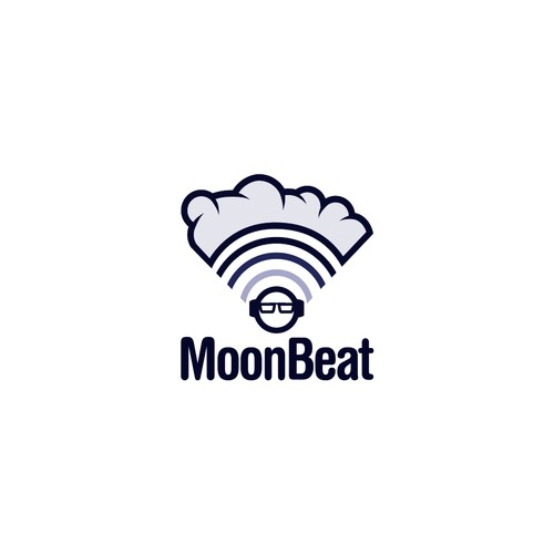 Logo for music and space theme.