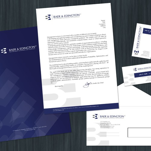 Accounting firm needs progressive, professional visual identity